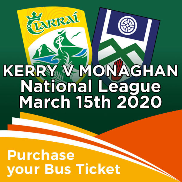 Coach to Kerry v Monaghan National League